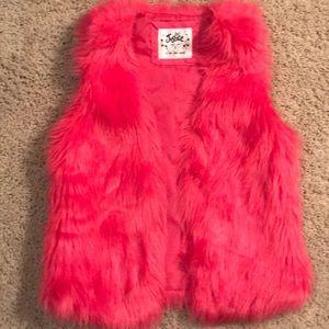Justice faux fur vest